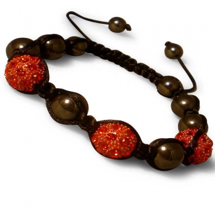 Bracelet Shamballa Rouge collection Luxe